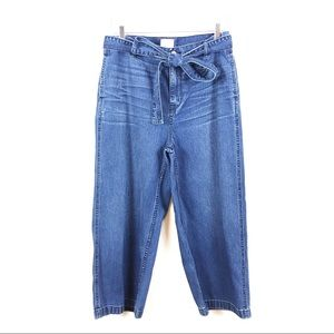 J. CREW   Rayner Wide Leg Jeans Tie Waist